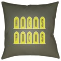 Surya Boo 20 x 20 x 4 Polyester Throw Pillow - Item Number: BOO134-2020