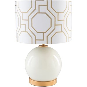 Solid White Modern Table Lamp