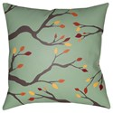 Surya Branches 20 x 20 x 4 Polyester Throw Pillow - Item Number: BRAN001-2020