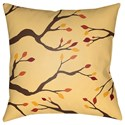 Surya Branches 18 x 18 x 4 Polyester Throw Pillow - Item Number: BRAN002-1818