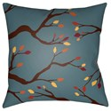 Surya Branches 20 x 20 x 4 Polyester Throw Pillow - Item Number: BRAN003-2020