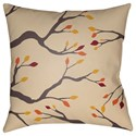Surya Branches 20 x 20 x 4 Polyester Throw Pillow - Item Number: BRAN004-2020