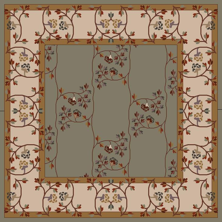 Surya Caesar 8' Square - Item Number: CAE1100-8SQ