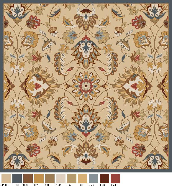 Surya Caesar 4' Square - Item Number: CAE1118-4SQ