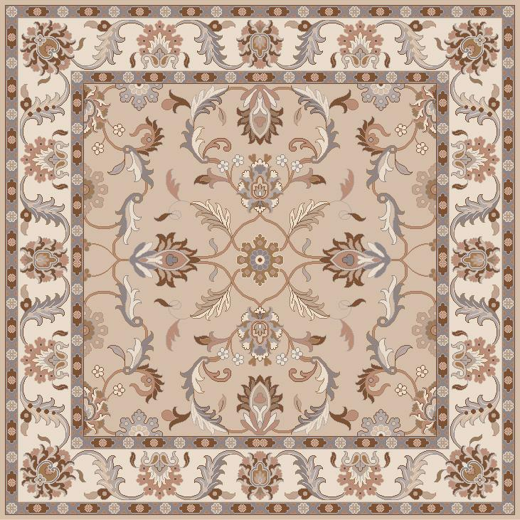Surya Rugs Caesar 4' Square - Item Number: CAE1129-4SQ