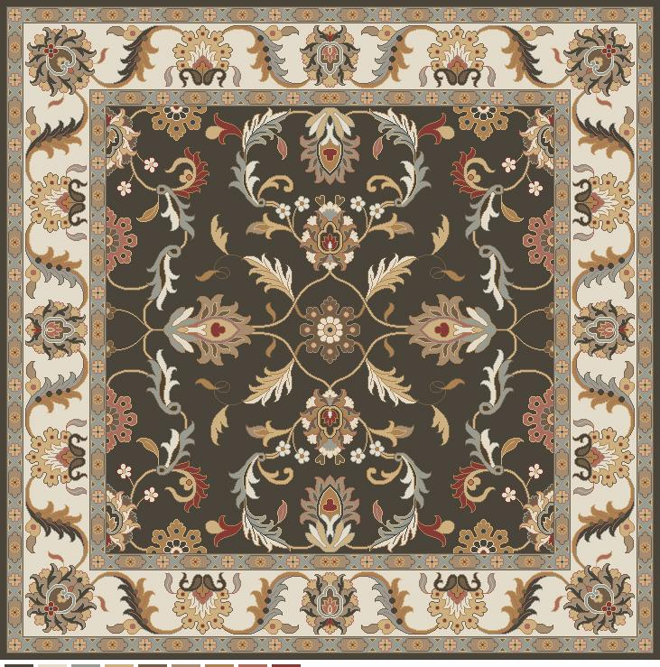Surya Caesar 8' Square - Item Number: CAE1130-8SQ