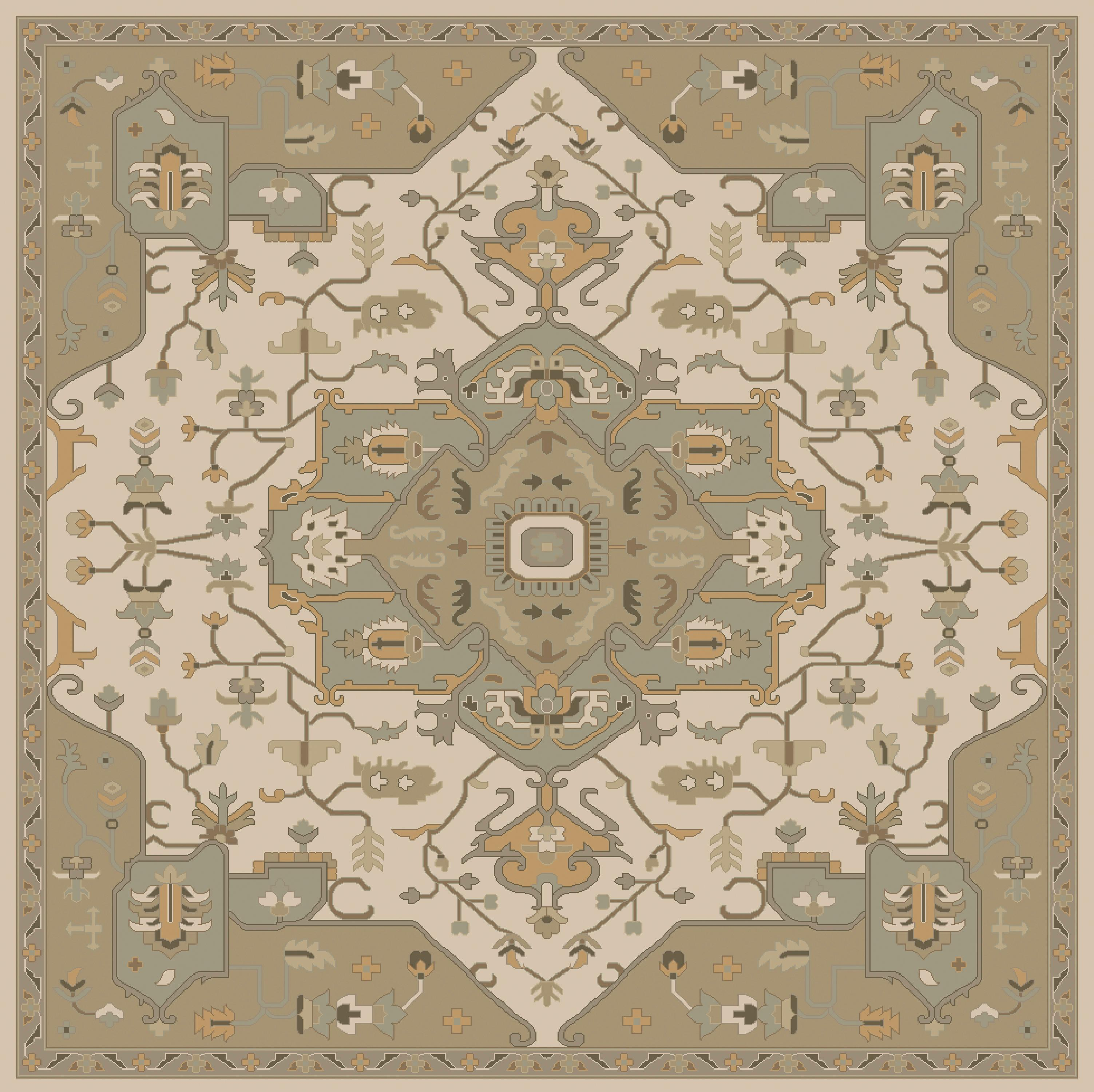 Surya Caesar 8' Square - Item Number: CAE1143-8SQ