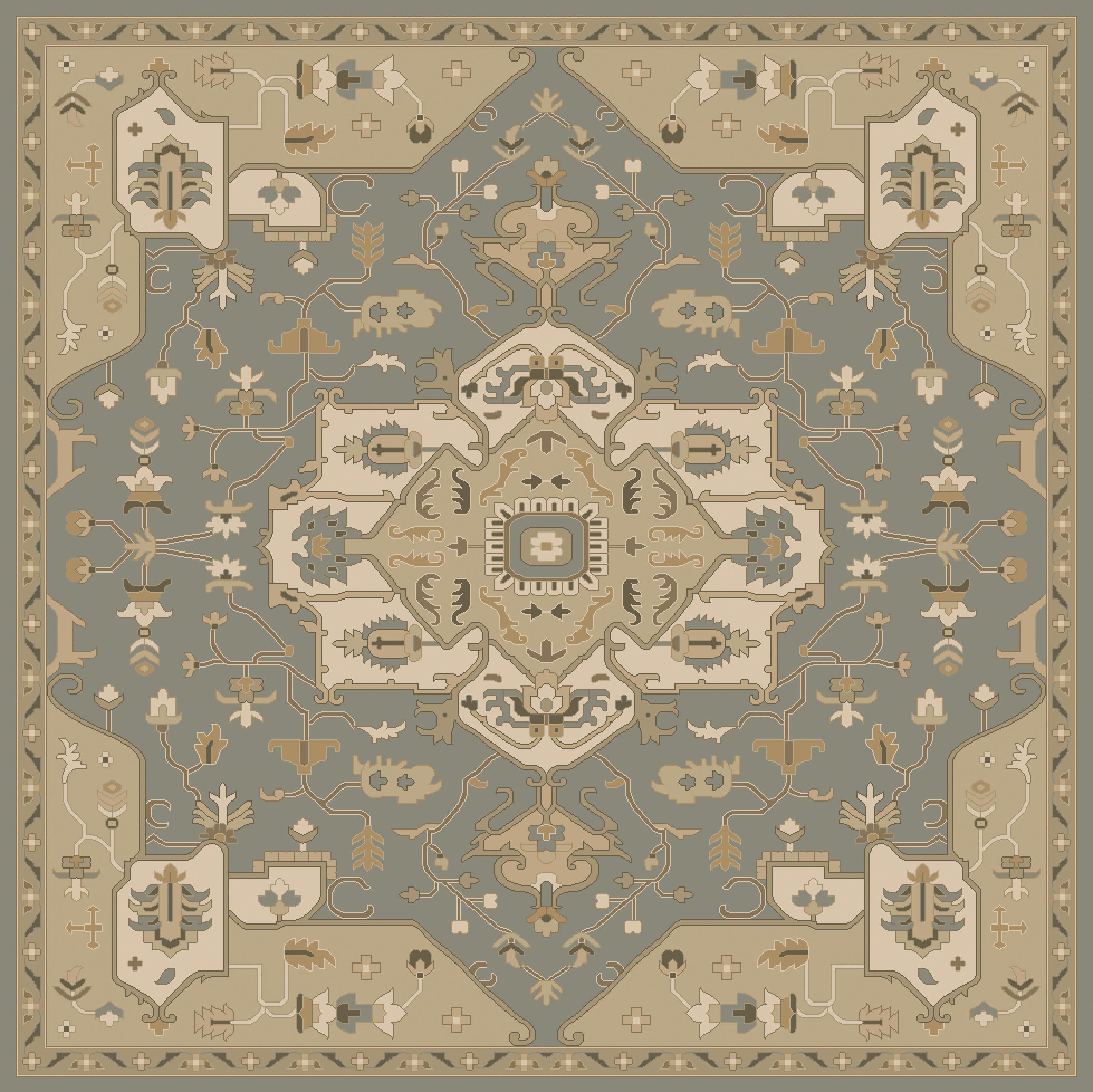 Surya Caesar 4' Square - Item Number: CAE1144-4SQ
