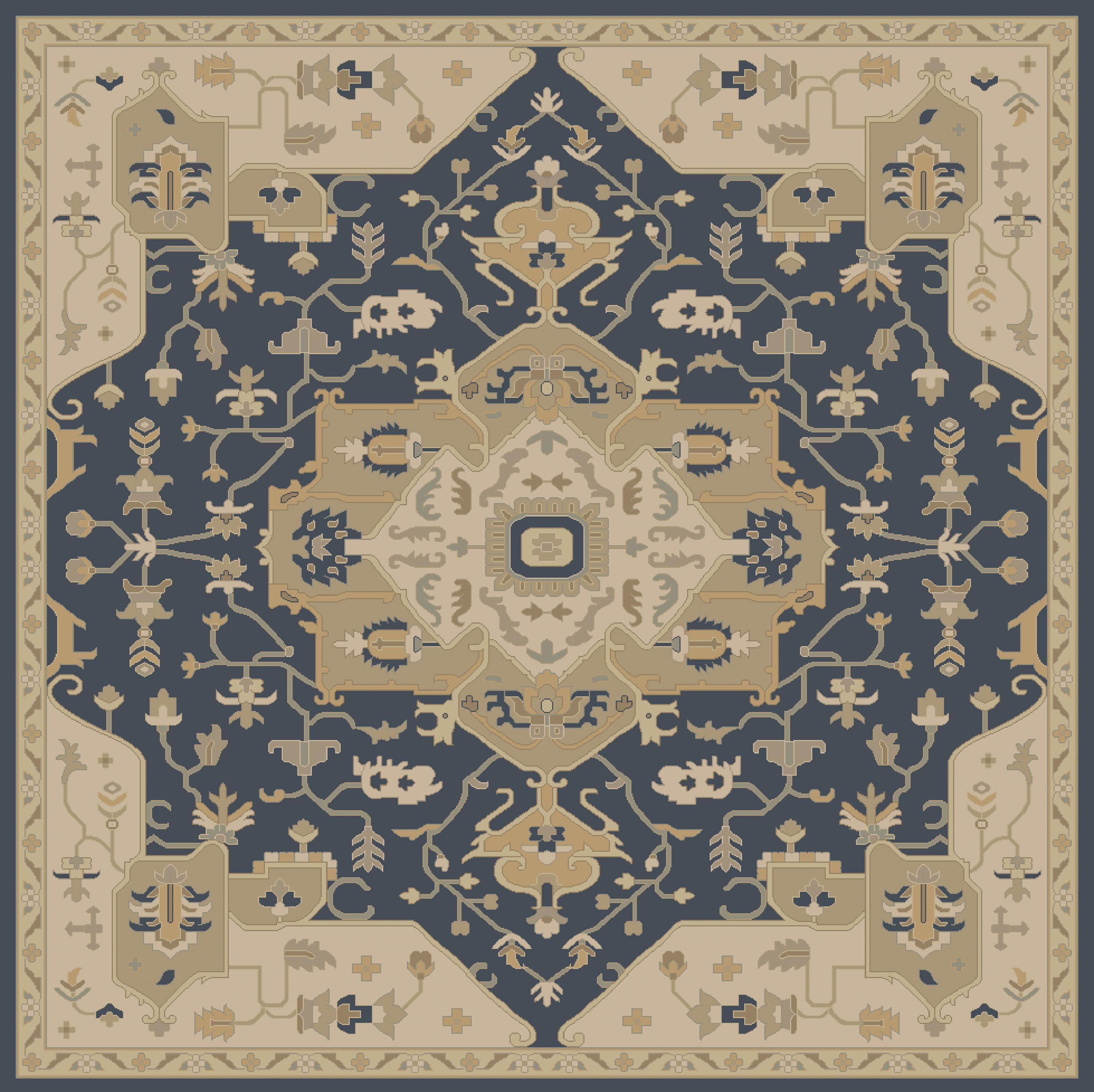 Surya Caesar 4' Square - Item Number: CAE1145-4SQ