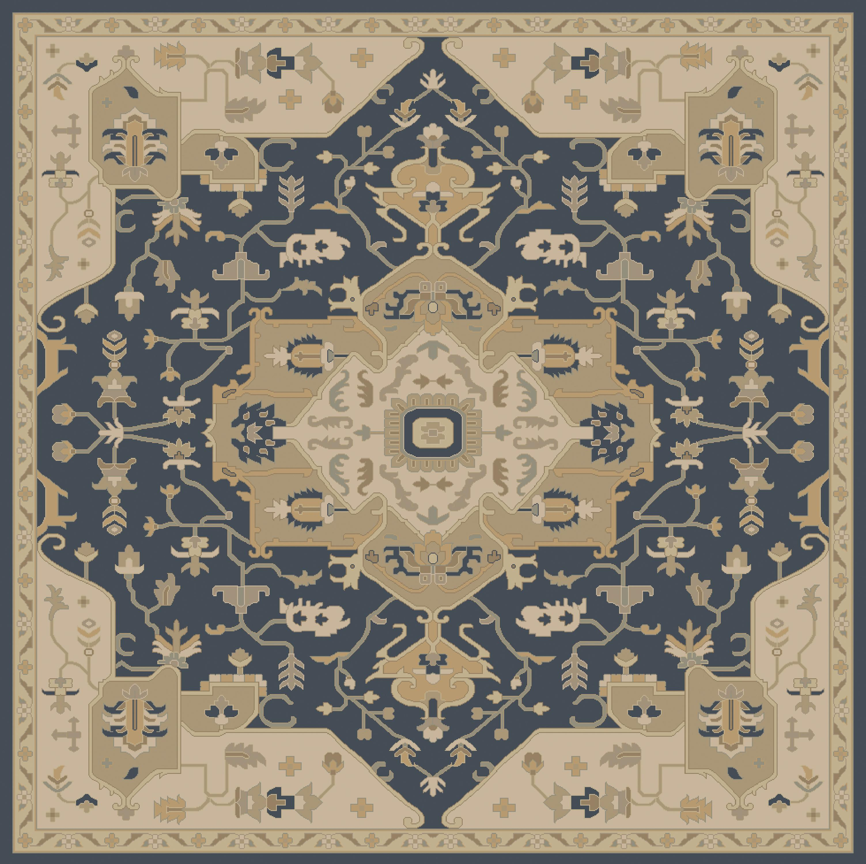 Surya Caesar 8' Square - Item Number: CAE1145-8SQ
