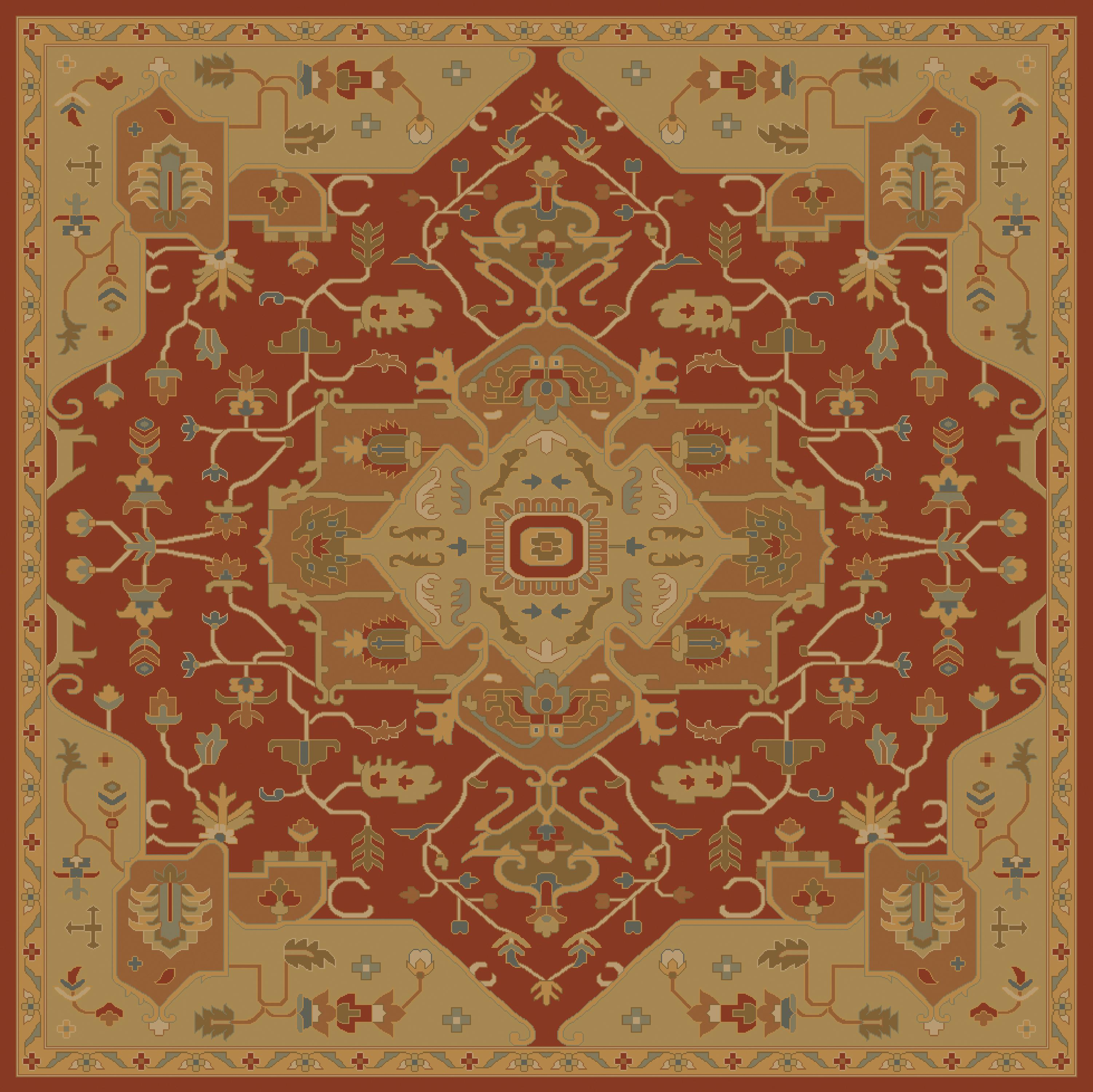 Surya Caesar 4' Square - Item Number: CAE1147-4SQ