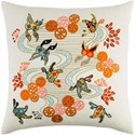 Surya Chinese River 18 x 18 x 4 Polyester Throw Pillow - Item Number: CI001-1818P