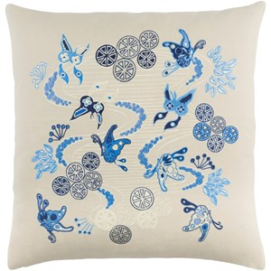 Surya Chinese River 22 x 22 x 5 Down Throw Pillow