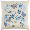 Surya Chinese River 22 x 22 x 5 Down Throw Pillow - Item Number: CI003-1818P