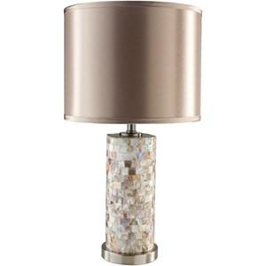Faux Shell Coastal Table Lamp