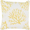 Surya Coral 20 x 20 x 4 Polyester Throw Pillow - Item Number: CO003-2020