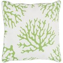 Surya Coral 20 x 20 x 4 Polyester Throw Pillow - Item Number: CO006-2020