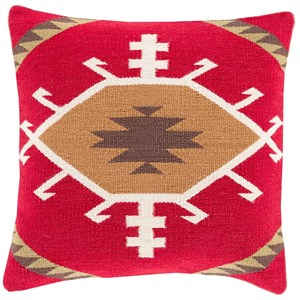 Surya Cotton Kilim 20 x 20 x 4 Down Throw Pillow