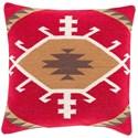 Surya Cotton Kilim 20 x 20 x 4 Down Throw Pillow - Item Number: CK003-2020D