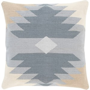 Surya Cotton Kilim 22 x 22 x 5 Down Throw Pillow