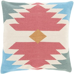Surya Cotton Kilim 18 x 18 x 4 Down Throw Pillow