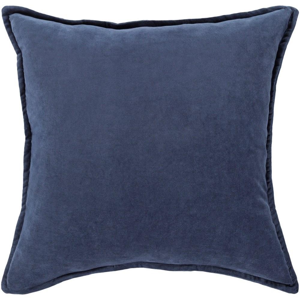 Cotton Velvet 20 x 20 x 4 Down Throw Pillow by Surya at Hudson's Furniture