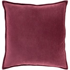 Surya Cotton Velvet 18 x 18 x 4 Down Throw Pillow