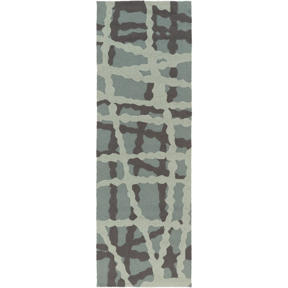 "Surya Courtyard 2'6"" x 8' - Item Number: CTY4007-268"