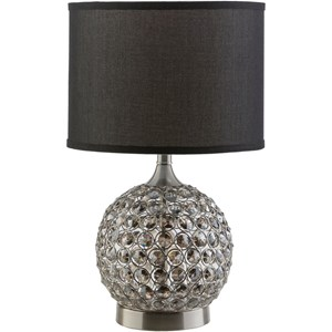 Surya Dauphine Brushed Nickel Glam Table Lamp