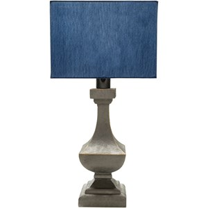 Surya Davis Antique Pewter Modern Table Lamp