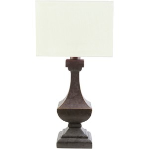 Antique Pewter Modern Table Lamp