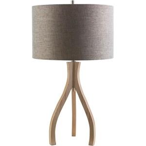Surya Duxbury Natural Wood Contemporary Table Lamp