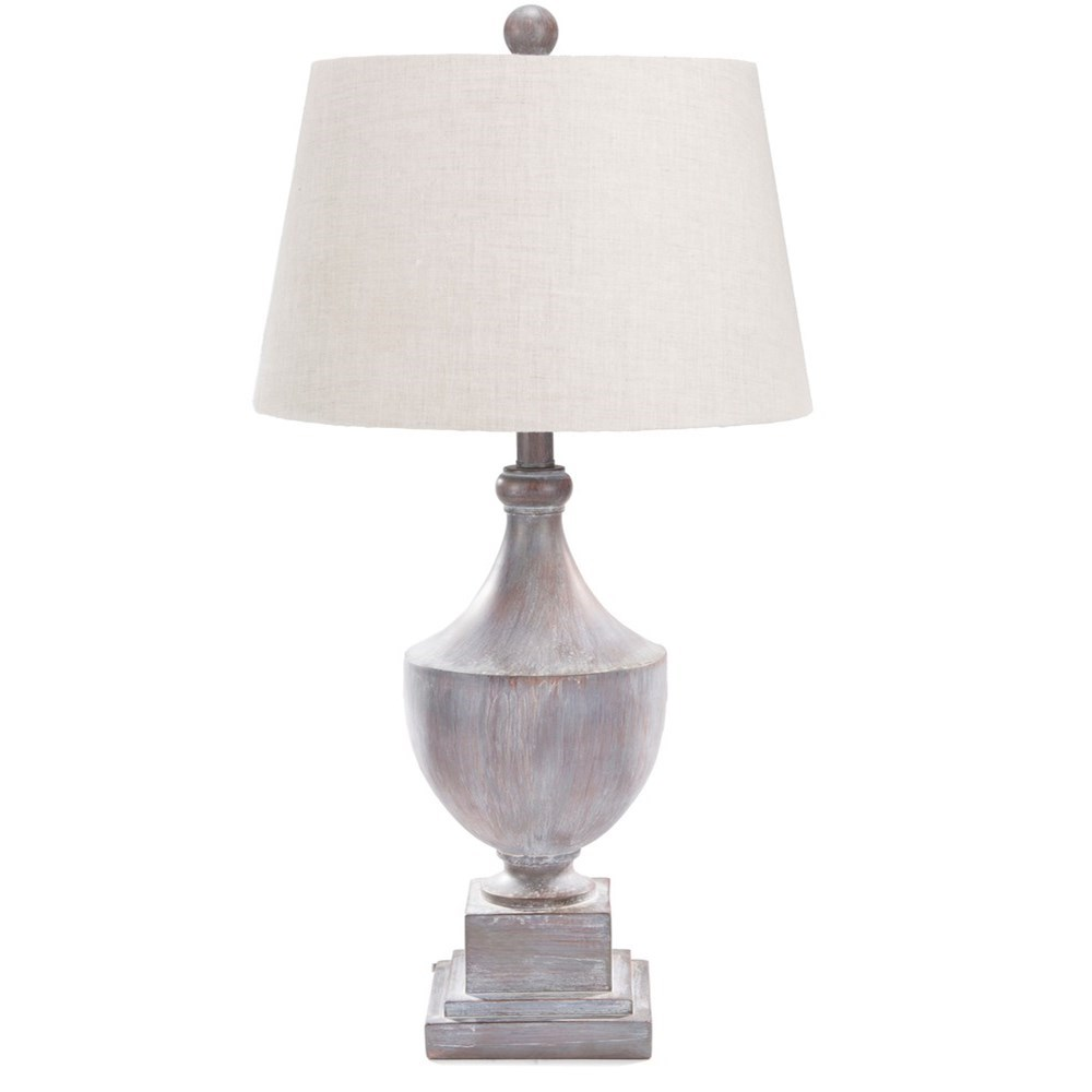 Surya Eleanor Gray Washed Traditional Table Lamp - Item Number: ERLP-002