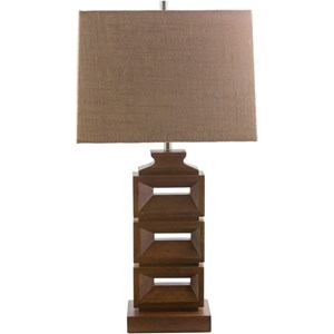 Stained wood Contemporary Table Lamp