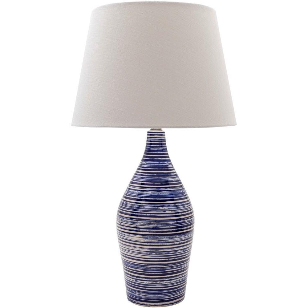 Glazed Coastal Table Lamp