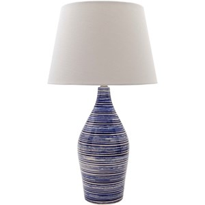 Glazed Coastal Table Lamp