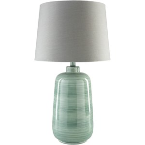 Surya Fisher Green Table Lamp