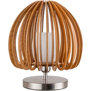 Surya Floki Brushed Nickle Contemporary Table Lamp