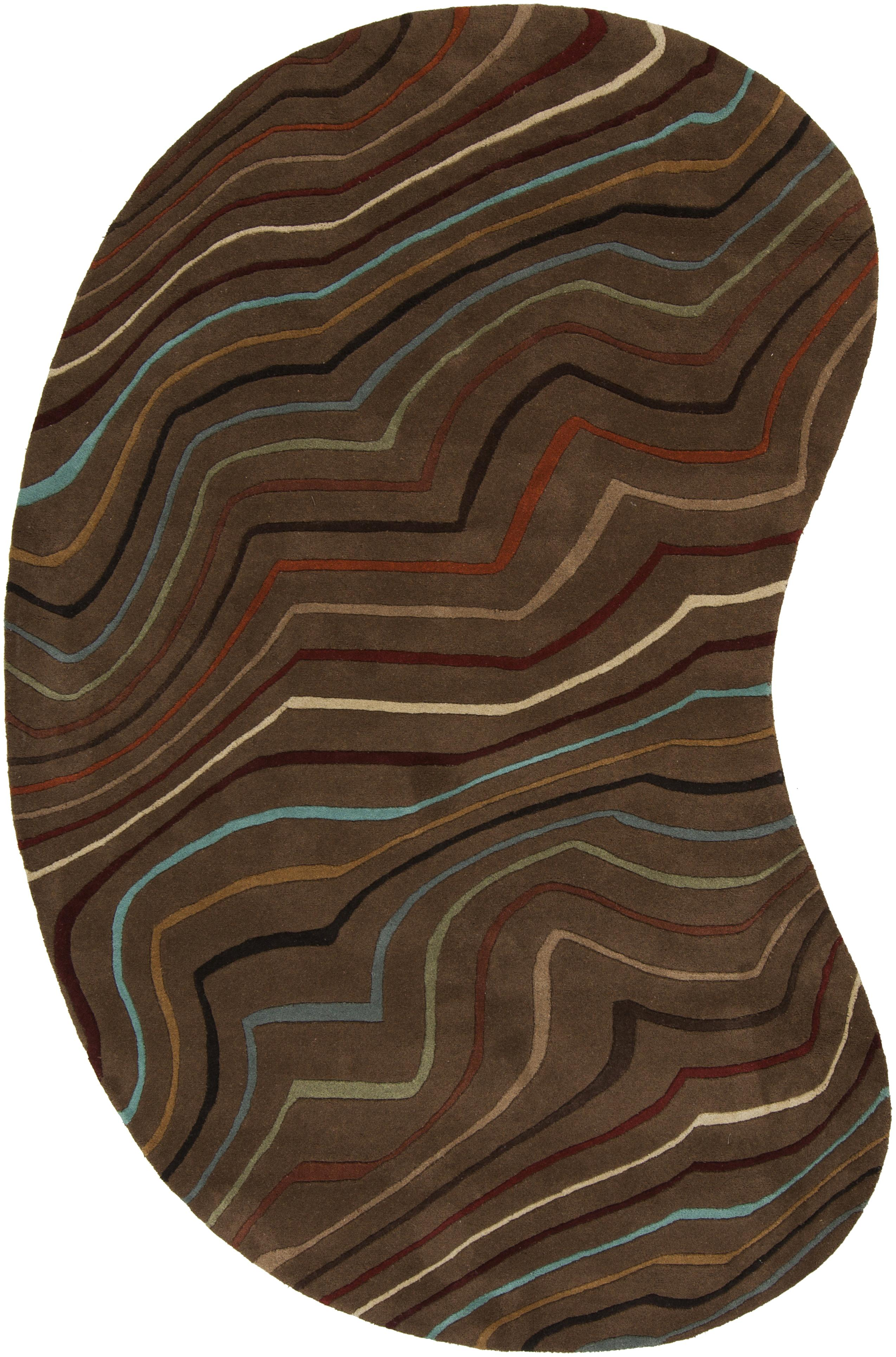 Surya Rugs Forum 6' x 9' Kidney - Item Number: FM7155-69KDNY