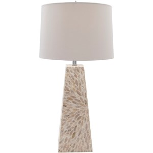 Shell Finish Contemporary Table Lamp