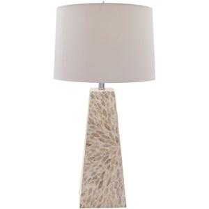 Surya Gardner Shell Finish Contemporary Table Lamp