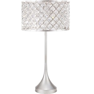 Brushed Silvertone Glam Table Lamp