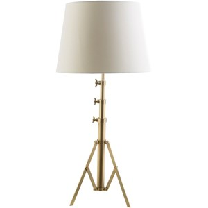 Antique Brass Industrial Table Lamp