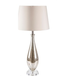 Surya Julia Antiqued Mercury Speckle Glam Table Lamp