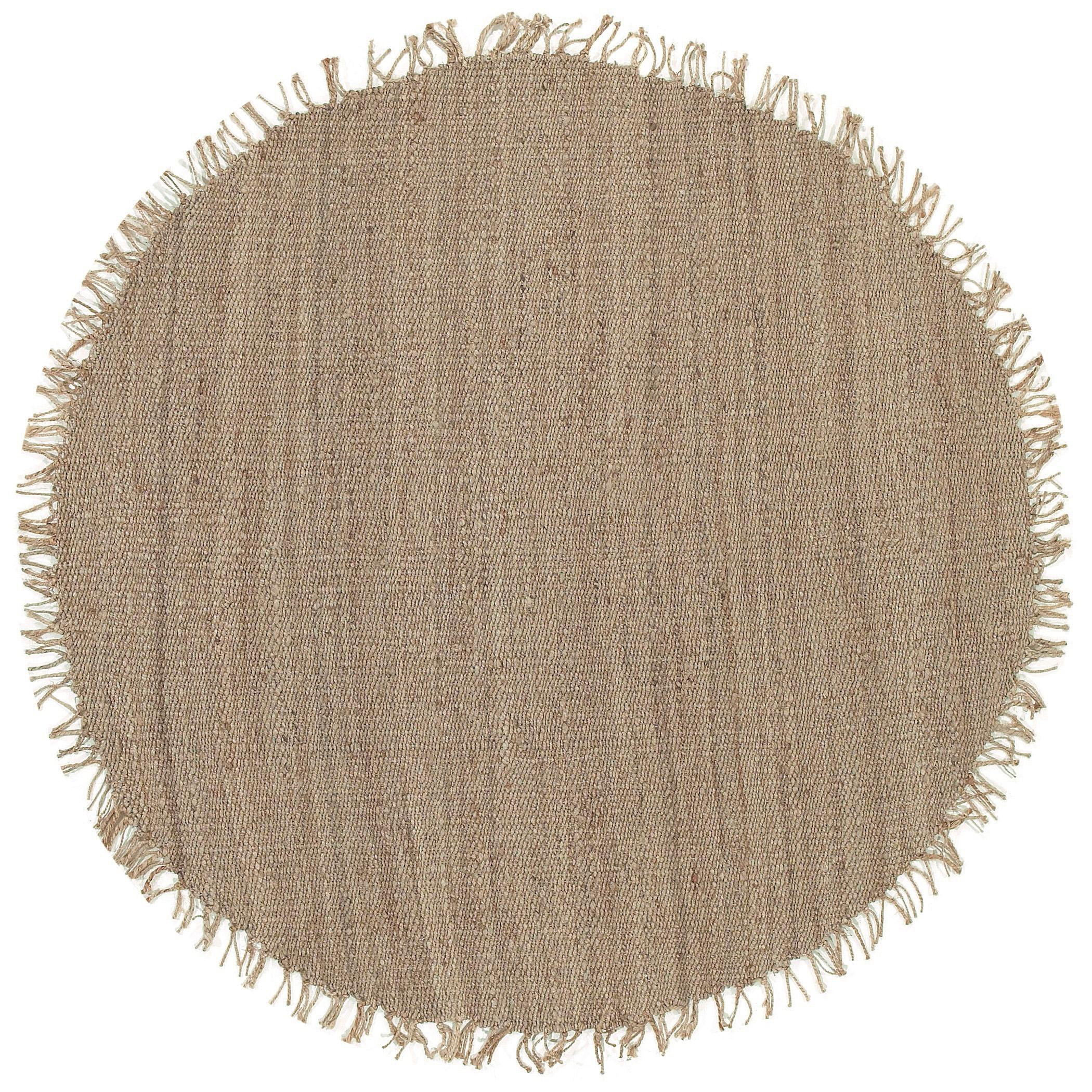 Surya Jute Natural 8' Round - Item Number: J-8RD