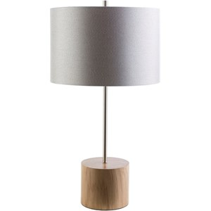 Natural Wood Contemporary Table Lamp