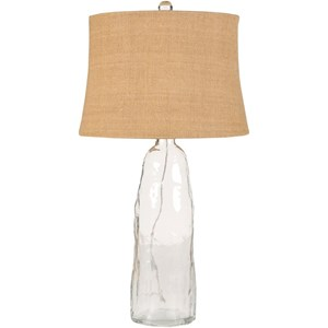 Surya Lamps Clear Glass Coastal Table Lamp