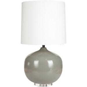 Surya Lamps Gray Modern Table Lamp