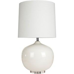 Surya Lamps Ivory White Modern Table Lamp