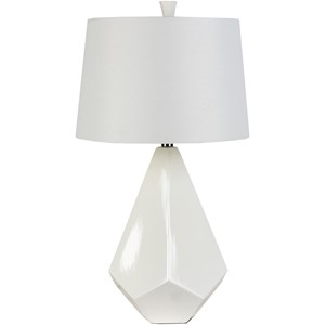 Surya Lamps White Contemporary Table Lamp